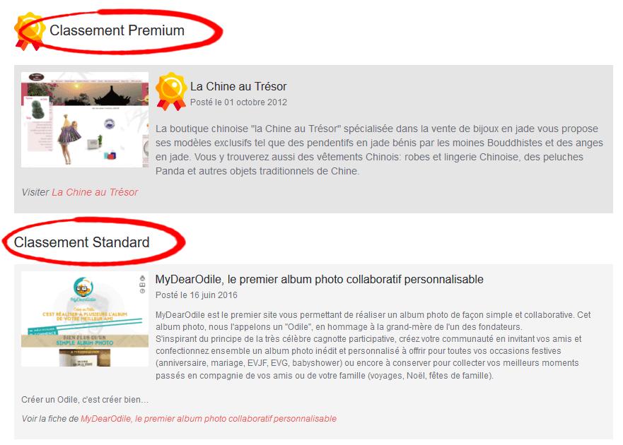 Offres Premium